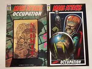 IDW MARS ATTACKS : OCCUPATION #1 : 2 COVERS BUNDLE : REG + SUB : NM CONDITION