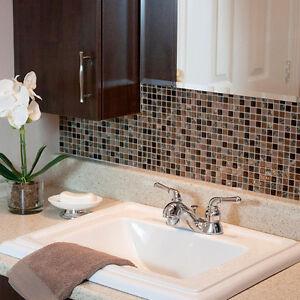 pack diy self adhesive kitchen bathroom wall tile backsplash bronze