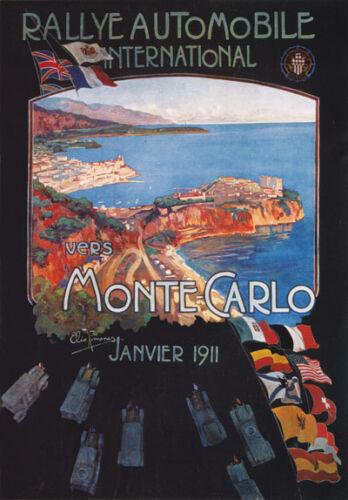 Av29 1911 Vintage Rally de Monte Carlo Monaco A3 Anuncio Cartel impresión de arte