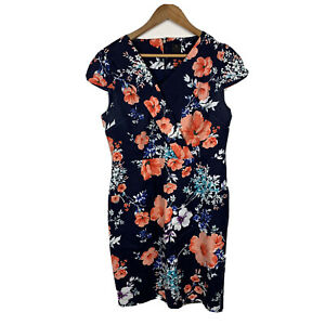 David-Lawrence-Womens-Pencil-Dress-Size-12-Floral-Multicoloured-Stunning-Design