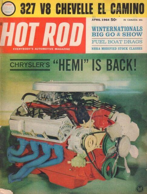 Hot Rod April 1964 Jack Hart dale Naef Hemi Chambered V8 122218DBE