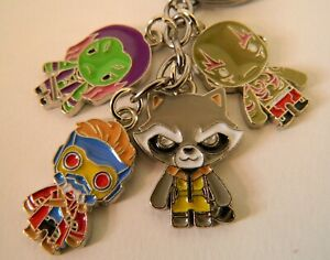 Guardians-of-the-Galaxy-key-chain-key-ring-Starlord-Rocket-Stock-clearance