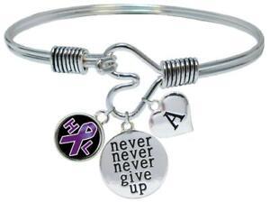 Bracelet Custom Lymphoma Awareness Believe Silver Bracelet Jewelry Choose Initial