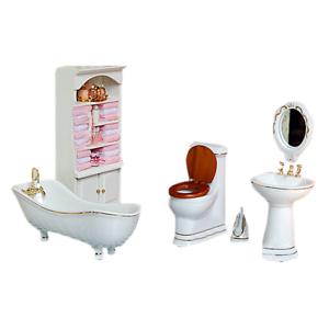 Details Zu 1 12 Kinder Puppenhaus Badezimmer Mobel Set Bad Ed