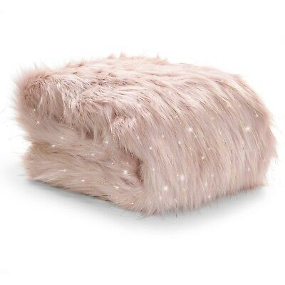 Catherine Lansfield Metallic Fur Throw Or Cushion Cover 4 Colours Available