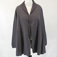 Neon Buddha Woman Dark Grey Conversation Shawl 100% Cotton Cardigan Top 2x