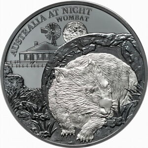 Niue-2021-Australia-at-Night-Nocturnal-Wombat-1-1-Oz-Pure-Silver-Black-Proof