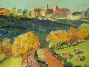 Actif Élie Dechelle ( 1874-1937) Paysage 1931 Landscape Chambéry Montagnole Caramagne RéTréCissable