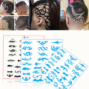 28pcs-Pack-Hair-Tattoo-Template-Mold-Stencil-Trimmer-Salon-Barber-Hairdressing