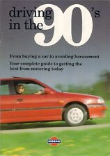 Nissan Driving In The 90s Female Motoring Guide 1993 UK Market Brochure