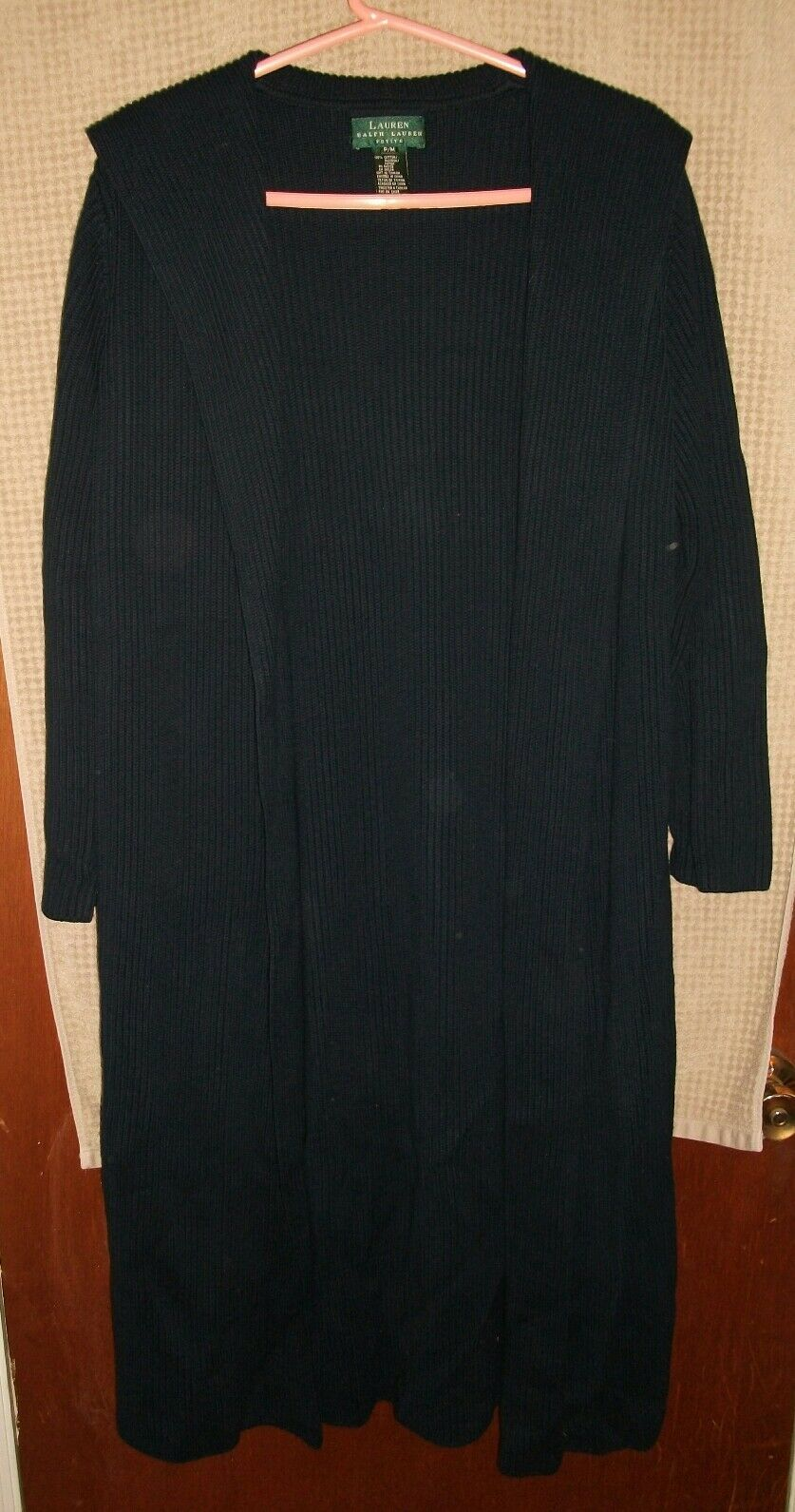 Lauren by Ralph Lauren Women's Cardigan  Sweater Robe Size Petite Medium M