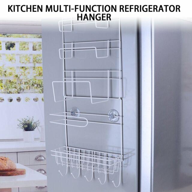 Refrigerator Rack Side Shelf Sidewall Holder Multifunctional Kitchen Organizer#
