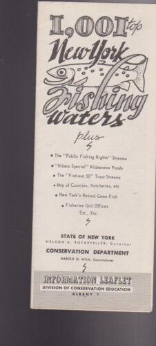 1001 Top New York Fishing Waters Brochure1960s