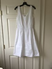NWT Gap Woman's White Cotton Tank Sundress Dress Size Medium