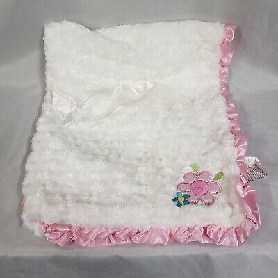 Baby Starters Reversible Doll Face Rosette Pink Blanket