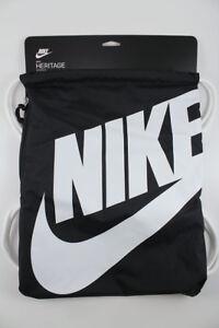 Nike Unisex Logo Drawstring Gym Drawstring Bag Blue//Orange