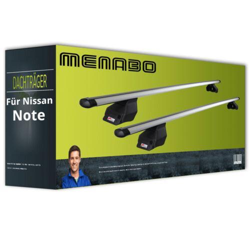 Dachträger Menabo Tema Aluminium für Nissan Note Typ E11 NEU FPA komplett