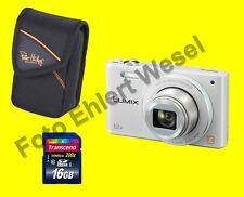 Panasonic DMC-SZ10 EG-W weiss weiß  + Zubehörpaket 16GB + Tasche** SPARPACK **