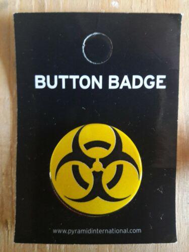 BIOHAZARD symbol Button Badge 25mm 1 inch