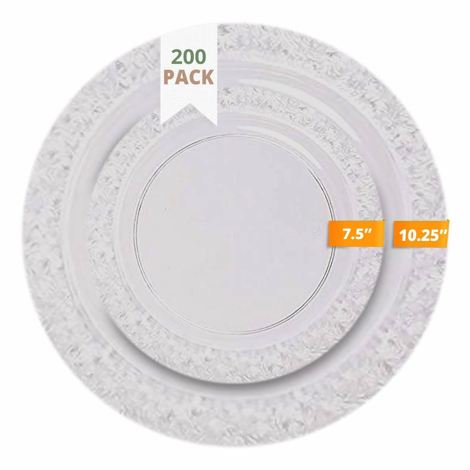 Ttg 200 Piece Plastic Dinnerware Set