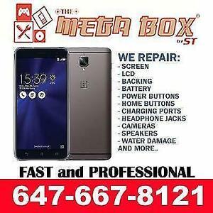 [TOP QUALITY PHONE REPAIR] ONE PLUS 1/2/3/5/X, ZENFONE 2/2LASER/3/3LASER GLASS LCD SCREEN FIX Toronto (GTA) Preview