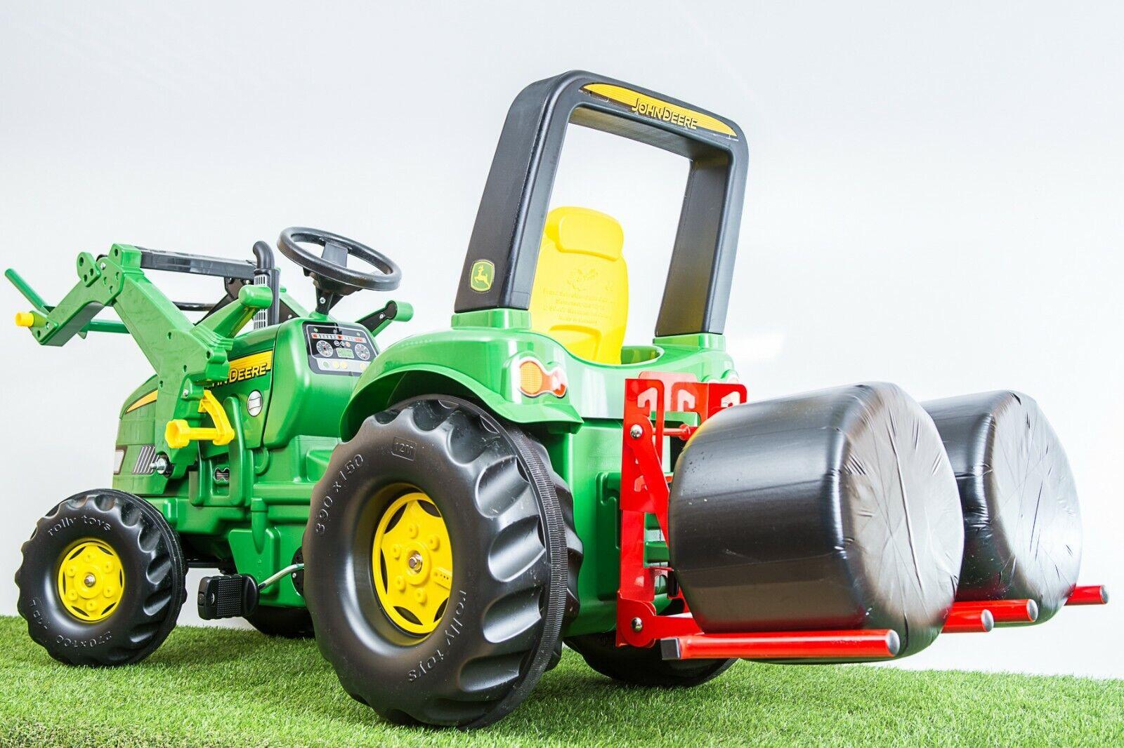 Enganche en tres puntos & Doble Bale Handler para Tractor De Pedal