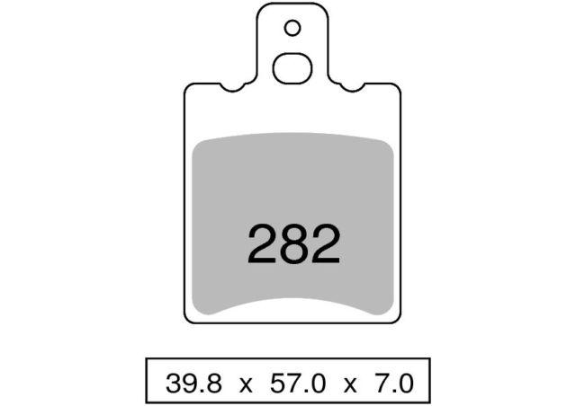 Pareja pastillas de freno trasero orgánica KTM 550 GXE 550 1986  TROFEO
