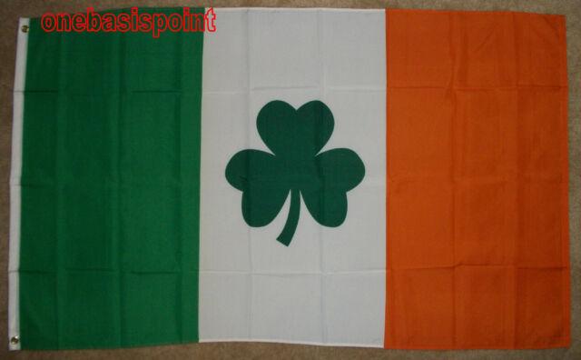 3'x5' Ireland with Clover Leaf Flag Irish Outdoor Banner Celtic Shamrock Big 3X5