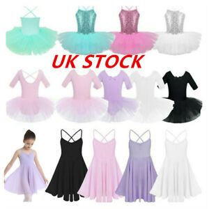 UK-Girl-Kids-Ballerina-Costume-Ballet-Latin-Dance-Dress-Dancewear-Leotard-Skirts
