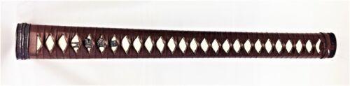Nodachi Tsuka Brown artificial leather ito iaido Iaito katana Shinken sword
