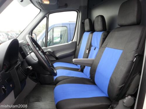 Fundas para asientos ya referencias referencias 2+1 azul para VW Crafter 2006+