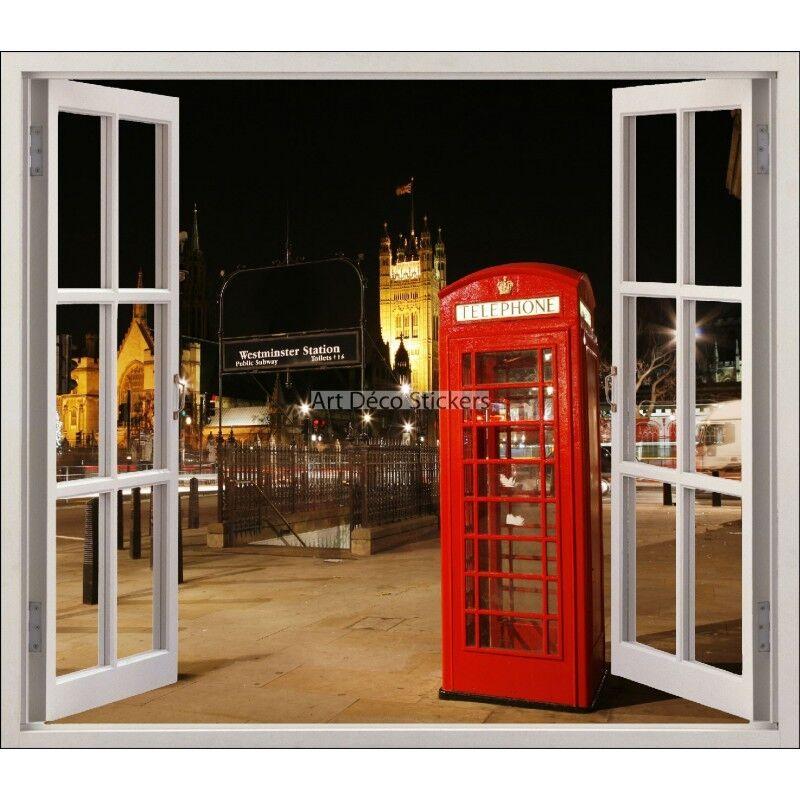 Aufkleber Fenster Deko Londres Kabine Telefon Ref 5420 5420