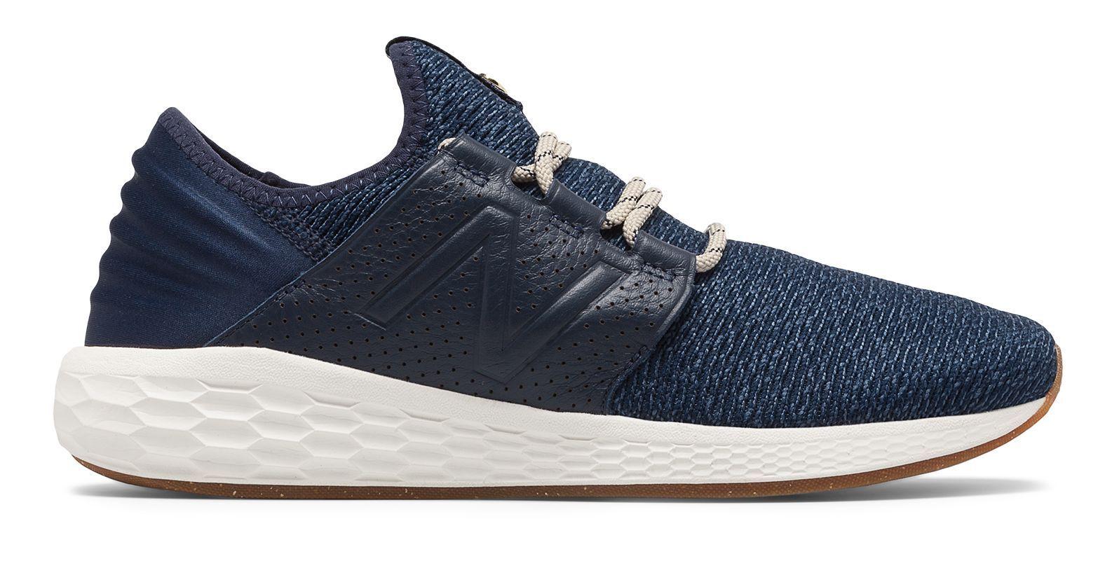 New Half Balance Men's Fresh Foam Cruz v2 Brooklyn Half New Shoes Navy with White a8cc4a