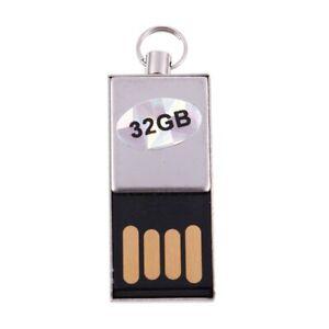 2X-Wasserdicht-Metall-USB-2-0-Flash-Speicher-U-Scheibe-32GB-Silber-D7I9