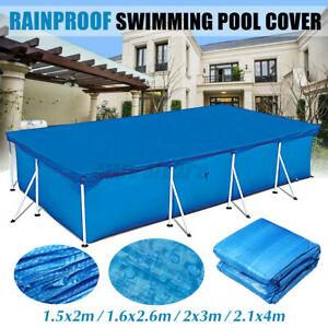 Rectangular Swimming Pool Cover for Above Ground UV Resistan Dustproof Protect