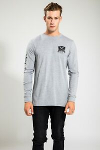 HIGH-QUALITY-MEN-039-S-GREY-SUMMER-LONG-SLEEVE-WITH-NAUTICAL-PRINT