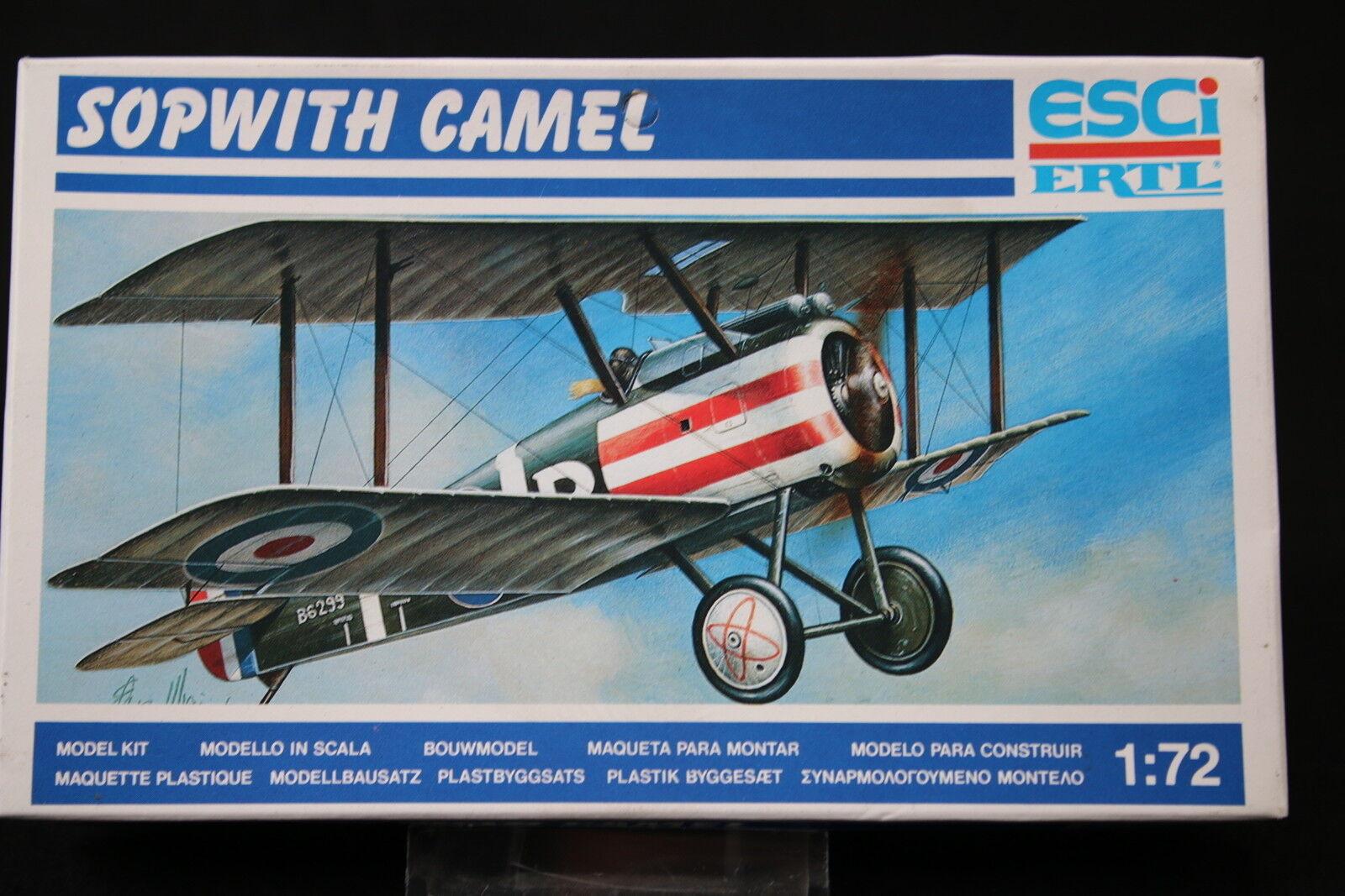YB059 ESCI 1 72 maquette avion 9020 Sopwith camel