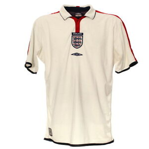 England-Fussball-Trikot-L-Umbro-Jersey-Football-Kit-Shirt-Retro-Weiss-2003-05