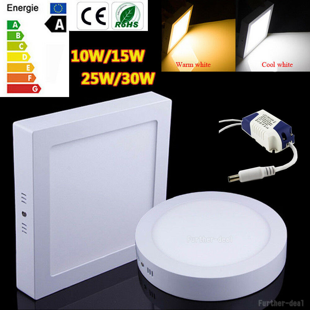 Dimmable LED Ceiling Down Light Panel Lamp 10W 15W 25W 30W Downlight Bulb AC