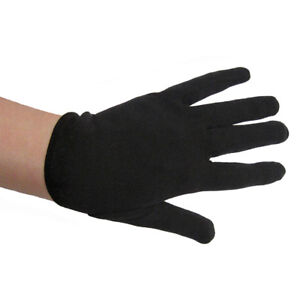 Pair of Black Gloves Magician//Clown//Costume Theater Fancy Dress New Adult//Child