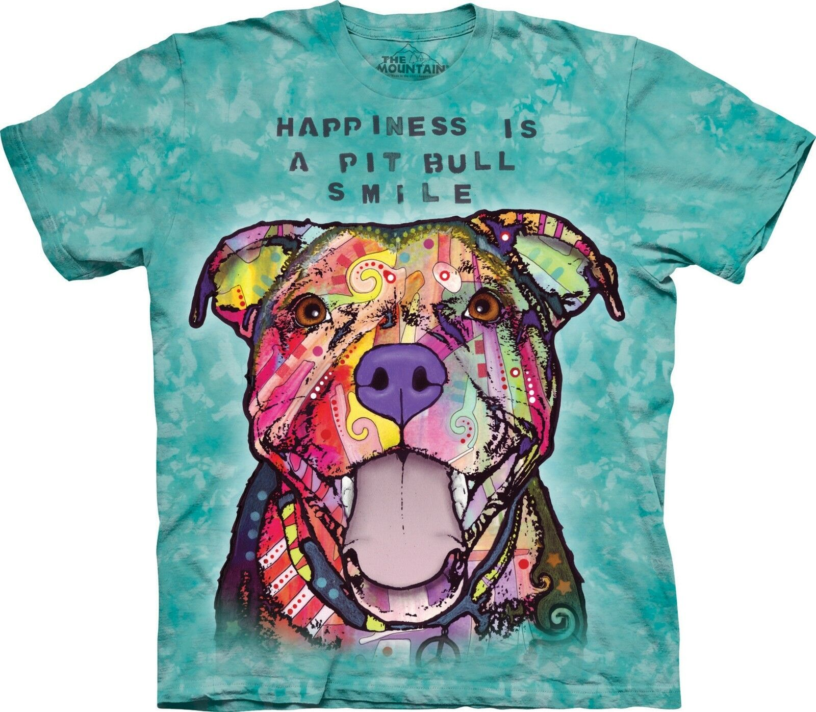 Pit Bull Smile T Shirt Adult Unisex The Mountain