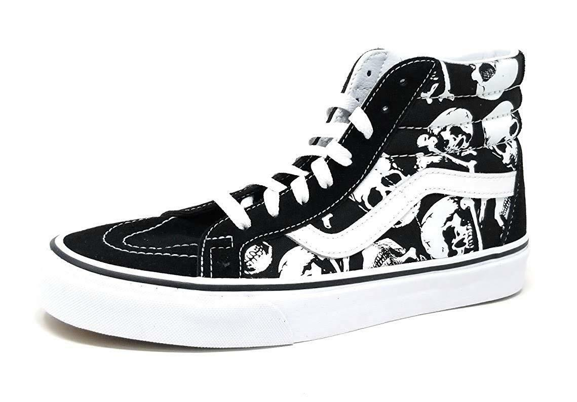 VANS SK8 HI REISSUE SKULLS negro TRUE blanco MENS US TallaS