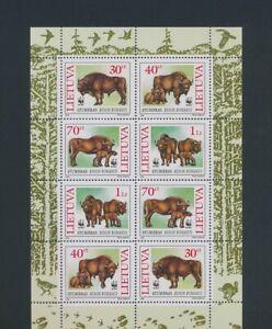 XC57932 Lithuania 1996 WWF bison animals wildlife good sheet MNH