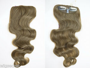 Premium-Quality-Wavy-Human-Hair-Clip-16-in-Long-Extension-Piece