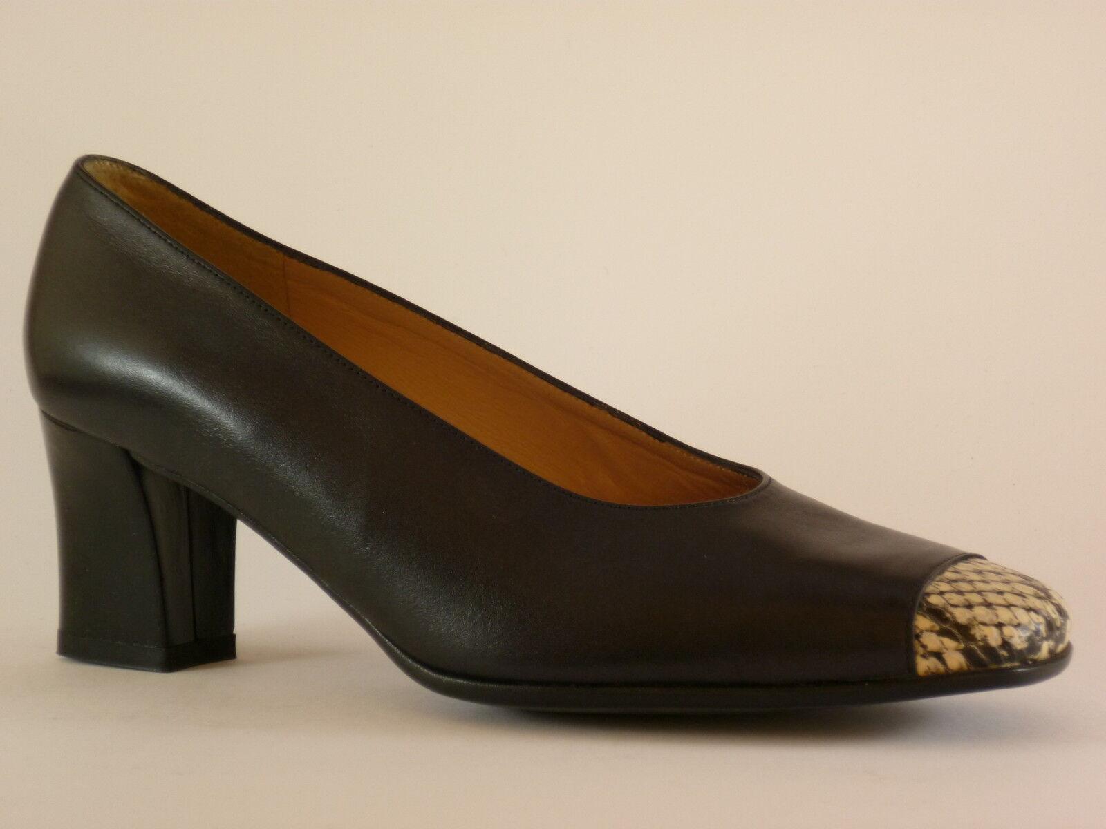 SONATE Damen Schuhe 36 Leder Schwarz   Reptile Pumps Abendschuhe NEU
