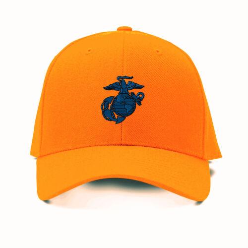 Marine Logo Blue Embroidery Embroidered Adjustable Hat Baseball Cap