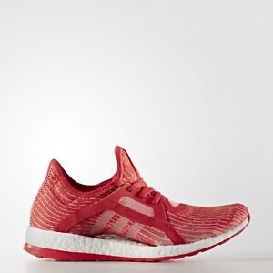 7762e0d2d868 Adidas Pure Boost X Red Pink Women s Primeknit Running Shoes ...