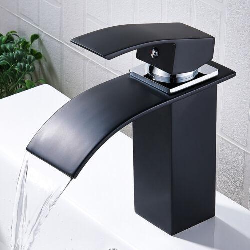 Modern Bathroom Basin Mixer Sink Taps Waterfall Single Lever Brass Faucet Tap UK