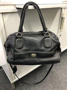 HUGO-BOSS-Damen-Handtasche-Tasche-Leder-ORIGINAL-Gebraucht