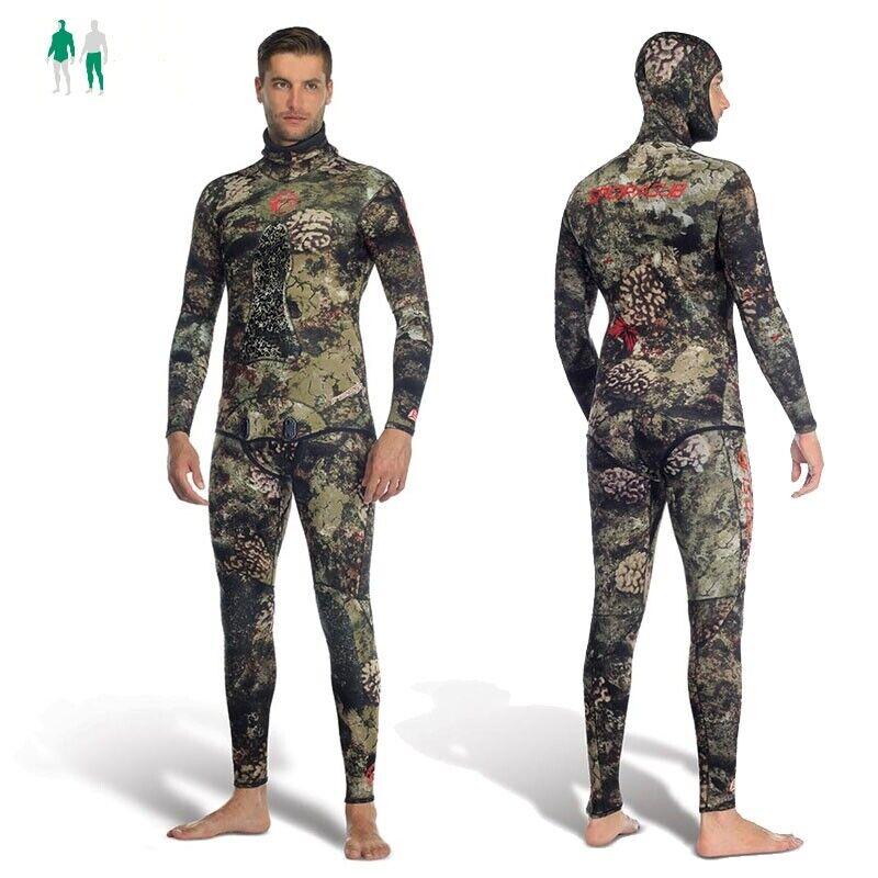 Sporasub Reef Wetsuit Camouflage Apnea Neoprene 5mm Open Cell Wetsuit